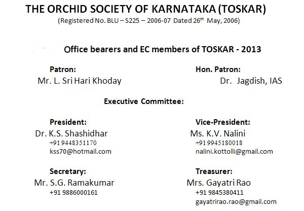 TOSKAR Officials