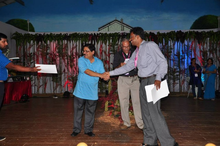 Winners recieving certificates